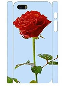 3D Print Flower Design Funky Red Rose Pattern Slim Phone Snap On Case For Iphone 6 4.7inch Cover