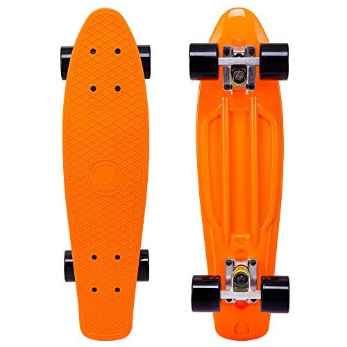 Cal 7 Complete Mini Cruiser | 22 Inch Micro Board | Vintage Skateboard for School and Travel (Monarch)
