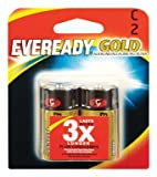 Eveready Gold C Alkaline Battery: 2-Pack