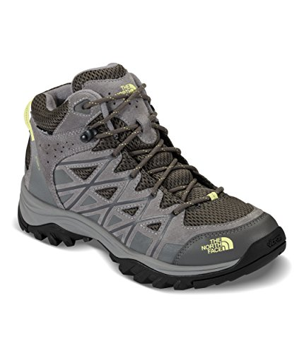 (The North Face Storm III Mid Waterproof Hiking Boot - Women's Dark Gull Grey/Chiffon Yellow, 11.0 )