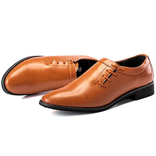 Pour Homme Lacets De Marron À Ville Chaussures shoes Jujianfu fqwY14W