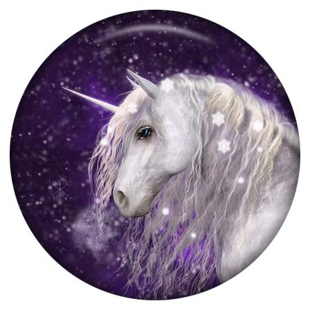 Snap Charm Colorful Unicorn Enamel Painted Button 20mm 3/4