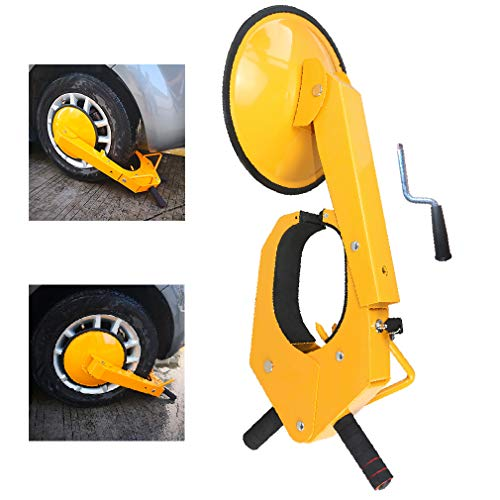 Lock Crank (Trailer Wheel Locks - Car Wheel Lock Anti-Theft Security Tire Wheel Boot Tire Claw Parking Boots For Atv Truck Rv Boat Trailer)