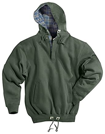 Tri-Mountain Men's Trailblazer Woven Plaid Fleece Hooded Pullover ...