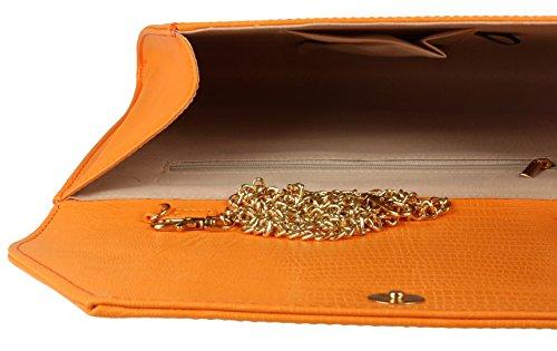 Bag Oversized Clutch Orange HandBags Snake Girly qzxwv1w