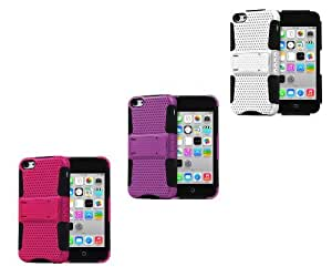 Fosmon 3 in 1 MESH Bundle for Apple iphone 5c - 3x Fosmon MESH-SD Series Phone Cases (Pink, Purple, White)