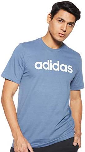 adidas Performance Essentials Linear Logo T-Shirt Herren blau/Weiss