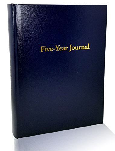 Hard Cover 5 Year Journal | The Easiest to Use Five Year Journal | Quick and Easy Five Year Daily Journal System | 6x8.25 Inch Size (Navy Blue) (Year Diary 5)