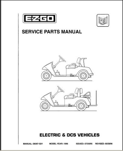 ezgo 28287g01 1996 service parts manual for txt electric