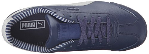 PUMA Roma Citi Series JR Sneaker (Little Kid/Big Kid), Peacoat/Drizzle, 5.5 M US Big Kid by PUMA (Image #8)
