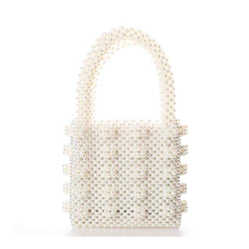 Handmade Pearl Beaded Handbags Weave Crystal Pearl Tote Bags (Women Fashion) ()