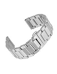 Beauty7 23mm Stainless Steel Wrist Watch Band Strap Double Clasp Bracelet