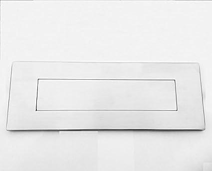 Placa para buzón en acero inoxidable satinado (tamaño: 305 x ...