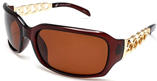 Women's Classic Wide Polarized Sunglasses - Liz Taylor - Liz Sunglasses