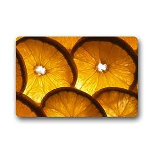 Rodajas de naranja fresco verano al aire libre Felpudo entrada suelo zapatos de alfombra de goma