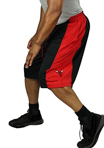 Chicago Bulls NBA Men's Basketball Shorts - Black / Red (Medium)