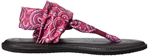 Sandals Prints Sanuk Radio Sling Yoga Love 2 Multi Burgundy gqvwUR