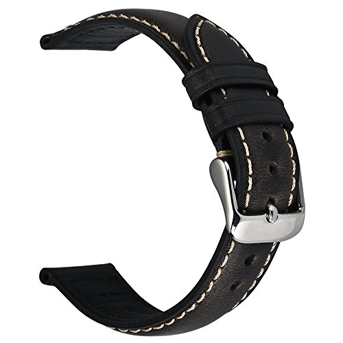 118e7a2a4 Vintage Leather Watch Band EACHE Watch Strap Oil Wax Genuine Leather  Replacement Watchband for Men for