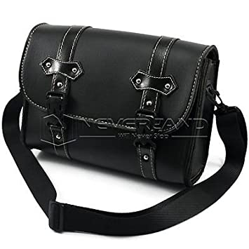 aridox (TM) negro motocicleta lateral de piel bolsas de ...