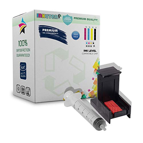 (INKUTEN Ink Cartridge Suction Priming Clip for HP 61 XL HP61 (Black &)