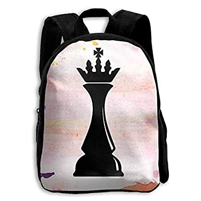 YEWEI Chess Pieces Men And Women 3D Printing Wide Zipper School Travel Bag Shoulder Bag Child Backpack
