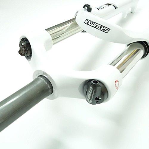 "SR SUNTOUR XCR32 26/"" MTB Bike Disc Brake Remote Lockout Fork 1-1//8/""100mm Black"