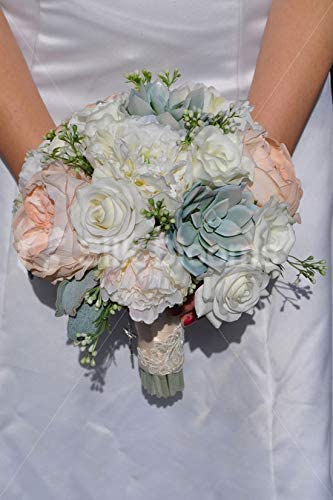 Bouquet Sposa Rose E Peonie.Amazon Com Silk Blooms Ltd Artificial Pink Fresh Touch Rose