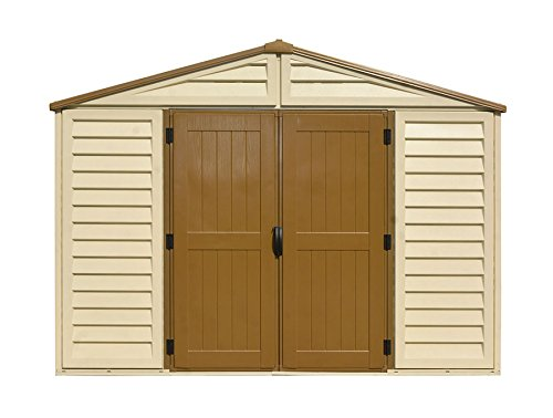 Duramax Building Products WoodBridge Plus 10 ft. x 10 ft. Vinyl Storage Shed with Foundation by Duramax (Image #3)