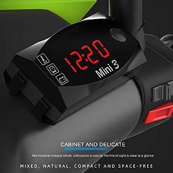 blinkende Warnung 12V 3 in 1 Digital LED Display Meter ShangSky Auto Uhr Thermometer Voltmeter Anzeige Anzeige Panel MeterFor Auto Motorrad IP67 wasserdicht