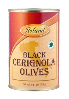 Roland Black Cerignola Olives 5.5 Lb (2 Pack) by Roland