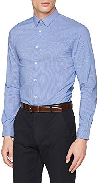 Celio Mavantal Camisa, Azul (Bleu Bleu), 42 (Talla del ...