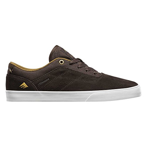 Emerica The Herman G6 Vulc, Color: Brown/White, Size: 42 Eu / 9 Us / 8 Uk