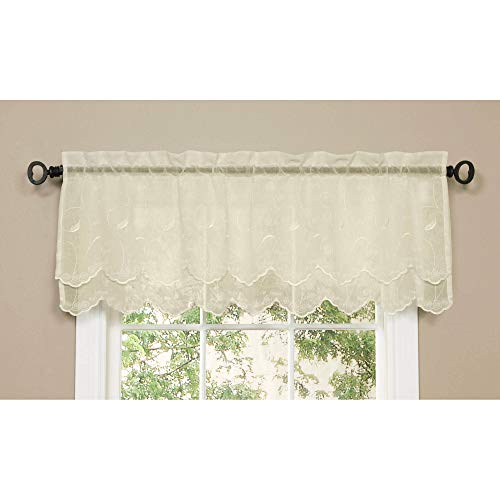 (Commonwealth Hathaway Double Scalloped Valance)