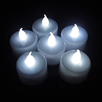 Party Lovers Ultra Bright Flickering LED Flameless Tea Light Decoration Candle - Battery Powered - 24 Pack