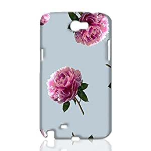 Vintage Peony 3D Rough Case Skin, fashion design image custom, durable hard 3D case cover, Case New Design for Samsung Galaxy Note 2 , By Codystore wangjiang maoyi