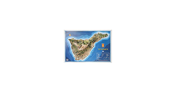 Mapa en relieve de Tenerife: Escala 1:130.000: Amazon.es: All ...