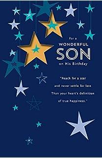 Son birthday card amazon office products wonderful son birthday card bookmarktalkfo Choice Image