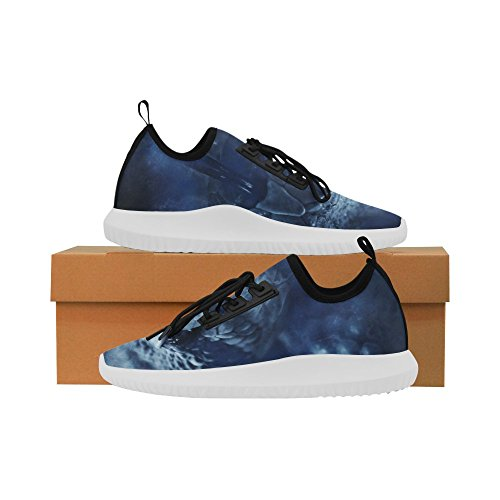InterestPrint skull Dolphin Ultra Light Running Shoes for Men Rattlesnake PF5IDc