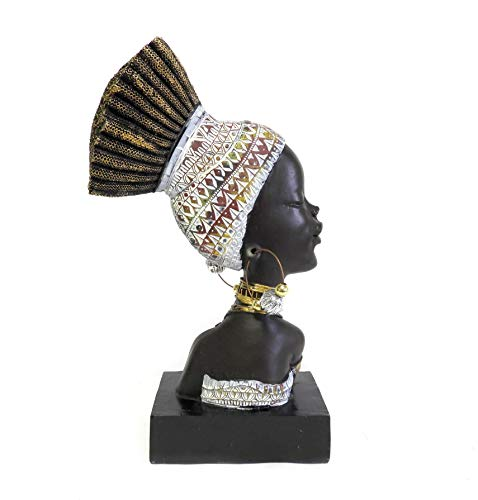 DINY Home Collections African Woman Head Figurine 13