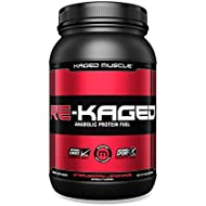 RE-KAGED Post-Workout Recovery Drink with 28g Whey Protein Isolate, BCAA's, EAA's, Creatine HCl, Glutamine, Betaine, Natural Flavors and Colors, Strawberry Lemonade, 20 Servings, 2.08 lbs