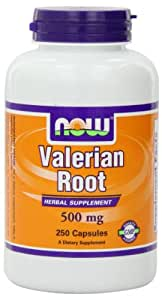 NOW Foods Valerian Root 500mg, 250 Vcaps
