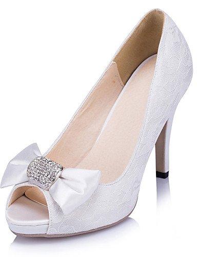 GGX/ Damen-Hochzeitsschuhe-Absätze / Zehenfrei-High Heels-Hochzeit / Kleid / Party & Festivität-Elfenbein / Weiß 4in-4 3/4in-ivory