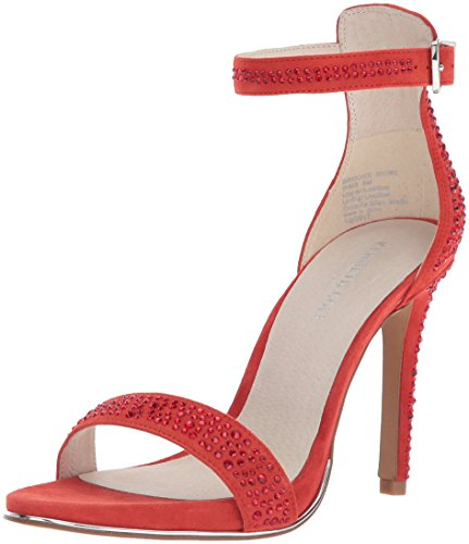 Kenneth Cole New York Women's Brooke Shine Glitzy Stiletto Dress Sandal Heeled, Persimmon, 8.5 M - Inch Wedge Shoes 4
