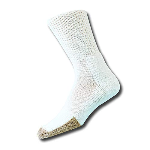 (Thorlos Unisex TX Tennis Thick Padded Crew Sock, White, Large)