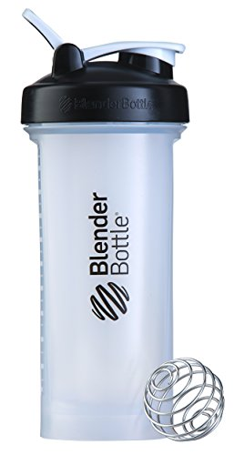 BlenderBottle Pro45 Extra Large Shaker Bottle, Clear/Black, 45-Ounce