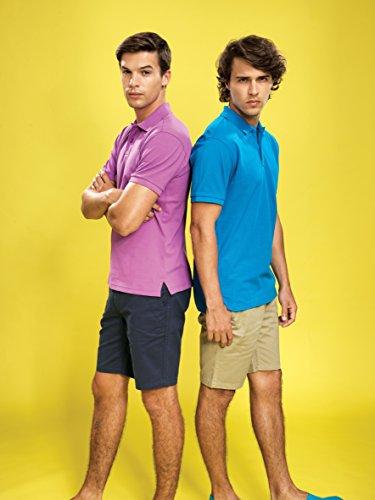 Asquith & Fox de alta calidad hombres de Polo. 50colores. Pequeño–5x l negro