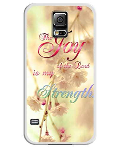 Phone Case for Samsung Galaxy S5, UKASE Easy Snape-on Cover Cases with Stylish Design of Joy of the Lord is My Strength