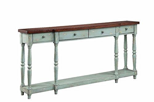 Stein World Furniture 4 Drawer Console, Caribbean Mist