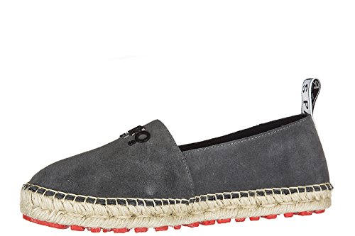 Kenzo Womens Suede Espadrilles Slip on Shoes Grey ySHpVDJ