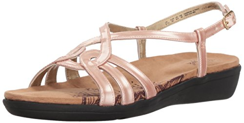 (Soft Style by Hush Puppies Women's Patrese Sandal, Rose Cloud Pearlized Patent, 10.0 M)